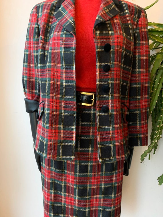 Vintage Tartan two pieces set