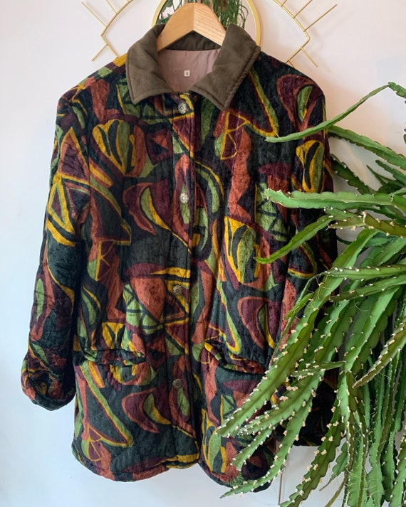 Vintage fall velvet coat