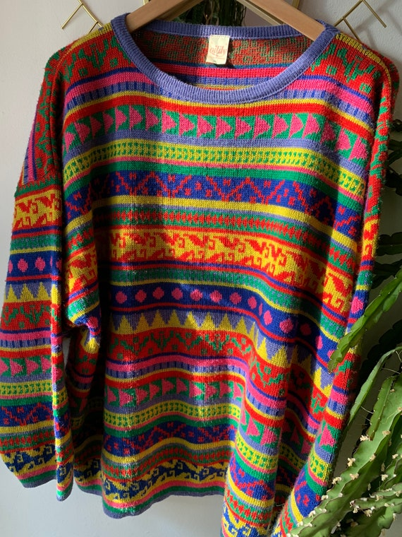 Vintage colorful oilily knitwear