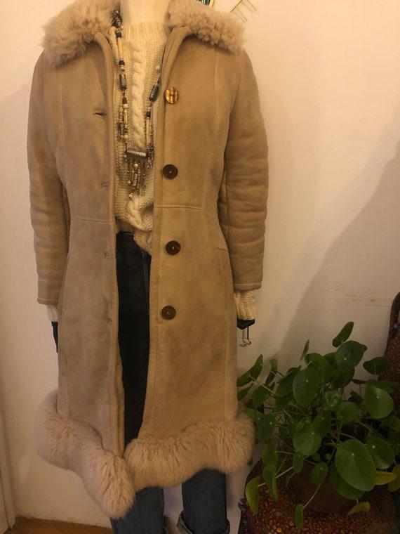 Vintage beige afghan coat