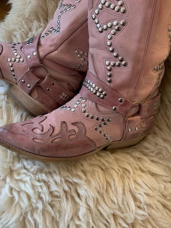 Vintage pink western boots - image 5