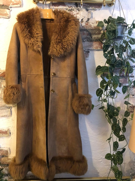 Vintage afghan bohemian coat