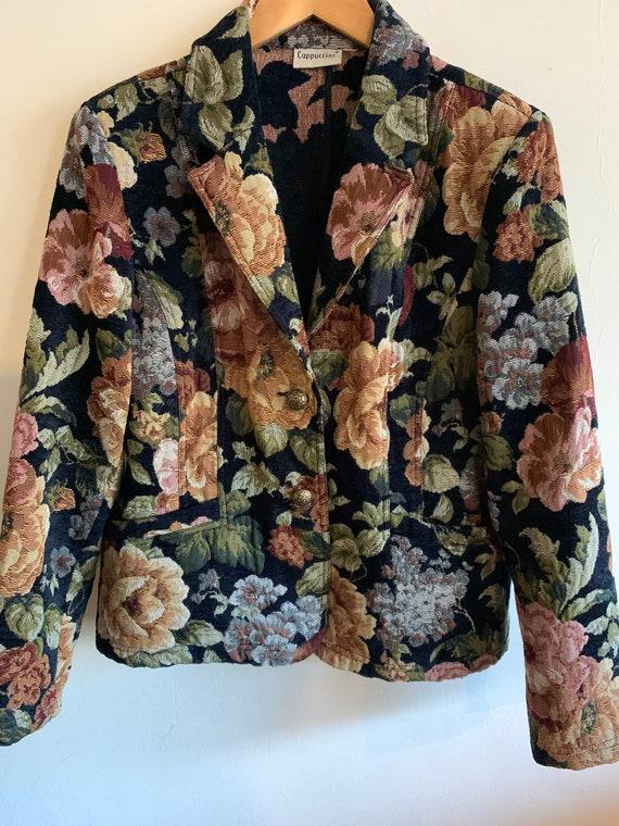 Vintage 1980s flower blazer