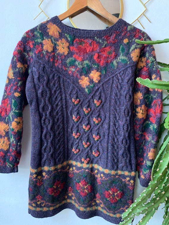 Vintage Laura Ashley embroidered knitwear