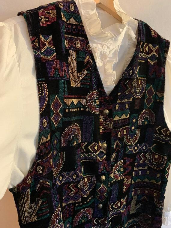 Vintage velvet waistcoat