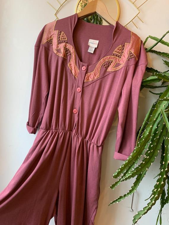 1980s pink jumpsuit