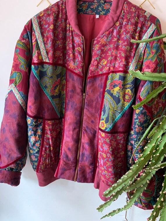 Vintage velvet paisley oversized jacket