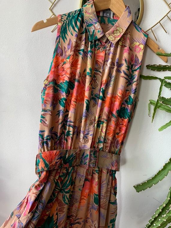 Vintage Flower 1980s Dress