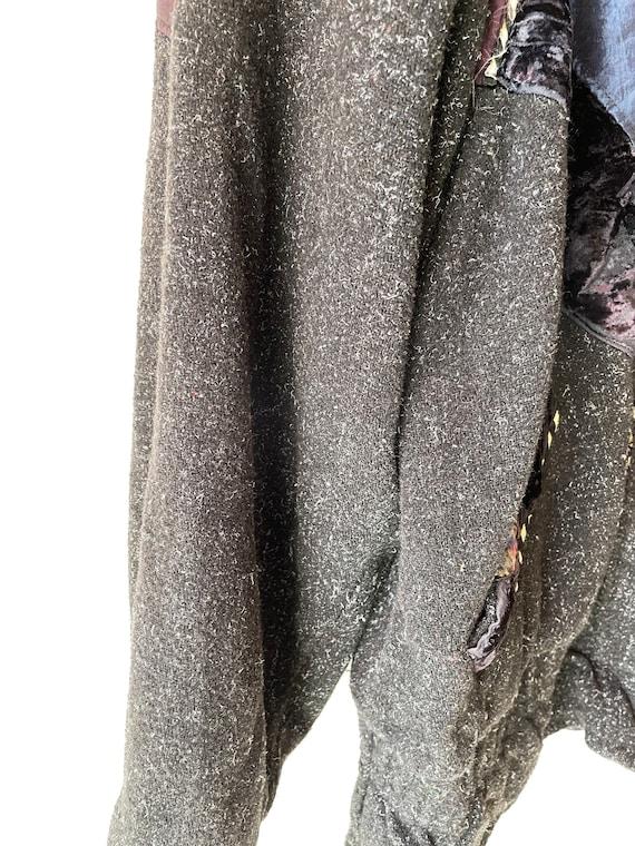 Vintage hipster velvet patchwork Jacket - image 9