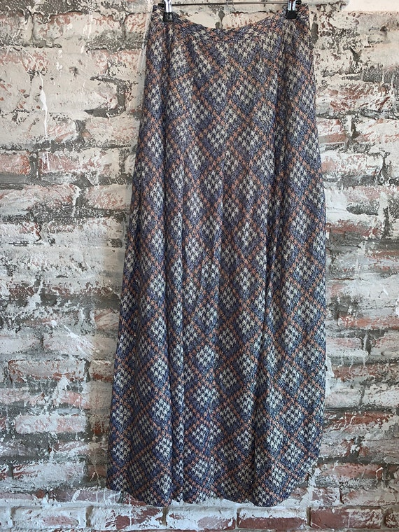 Vintage glitter maxi skirt