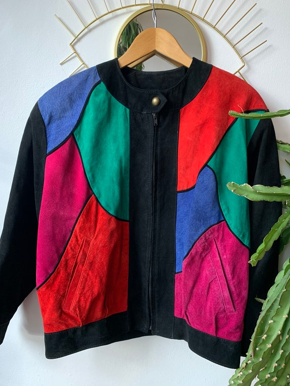 Vintage 1980s art suède Jacket