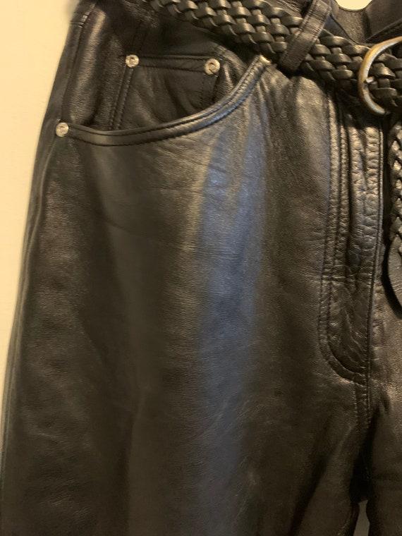 Vintage black leather pants
