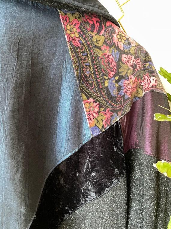 Vintage hipster velvet patchwork Jacket - image 4