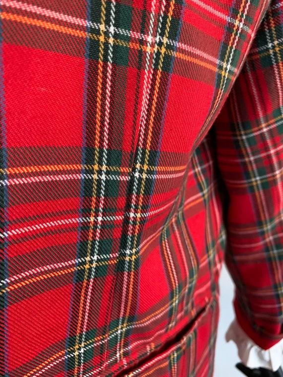 Vintage tartan blazer - image 7