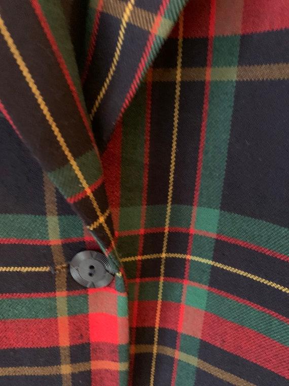 Vintage tartan oversized blazer - image 2