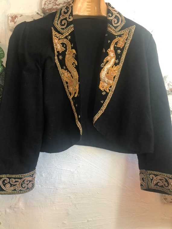 Vintage Embroidery cotton jacket