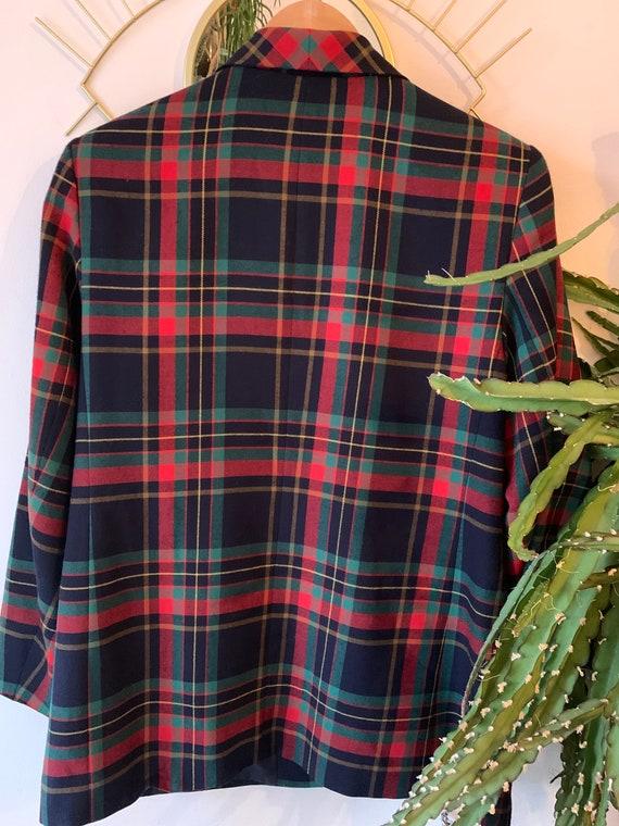 Vintage tartan oversized blazer - image 4