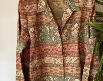 Vintage paisley flower blazer