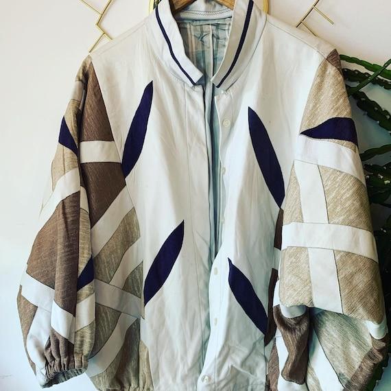 Vintage Leather patchwork jacket