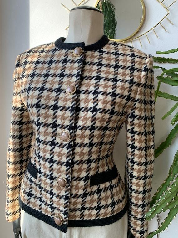 Vintage wool plaid blazer