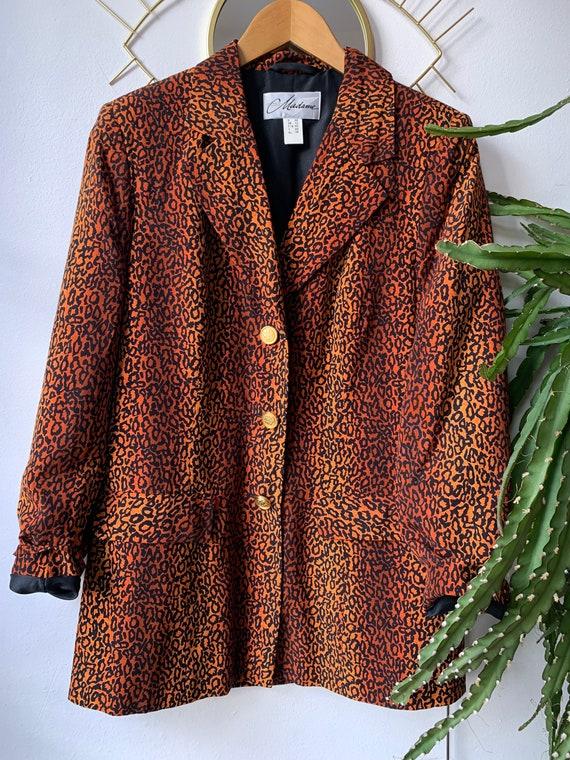 Vintage 1980s Leopard blazer