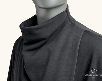 Unisex Black Poncho - Black Cape - Gender Neutral Poncho - Handmade in Berlin - Gender Neutral Clothing