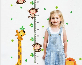 1set Children's background height sticker,Children's room background wall sticker,Kindergarten classroom wall sticker,Cartoon Height Sticker