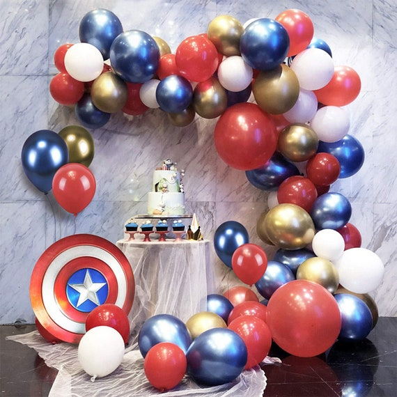 Diy Balloon Garland Kit Balloon Arch Kit Party Decor Theme Party Decoration Baby Shower Superhero Party Party Supplies