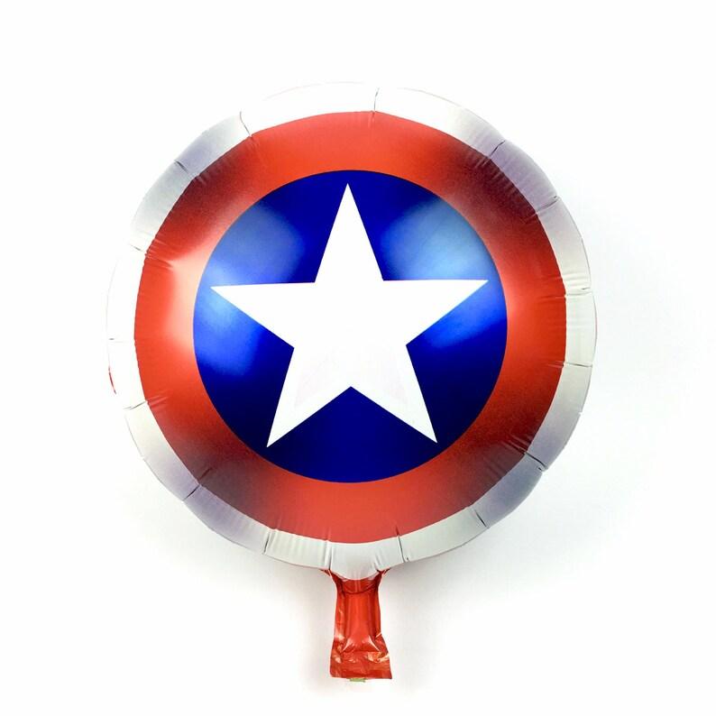 Hero Aluminum Balloon baby boy girl gift toy Shield Balloons Cartoon Shield balloon 1 pcs Shield Foil Balloons Superhero Theme Balloons