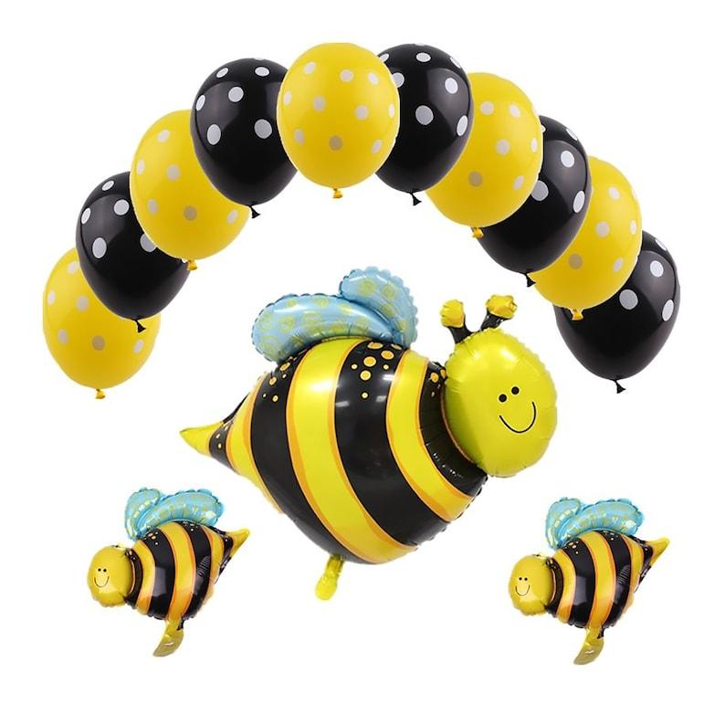 Yellow Black Balloons Bumble Bee Yellow Bee Party Decoration Bee Balloons Honey Bee Balloons Lovely bee Bee Birthday Party