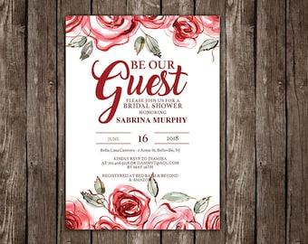 princess bridal shower diy printable invitation instant download editable