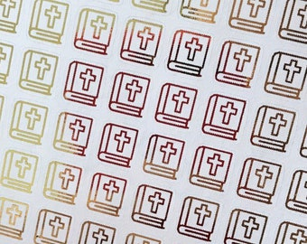 School Icon Foil Planner Sticker Sheet Book Bag Knapsack 70 pcs BACKPACK