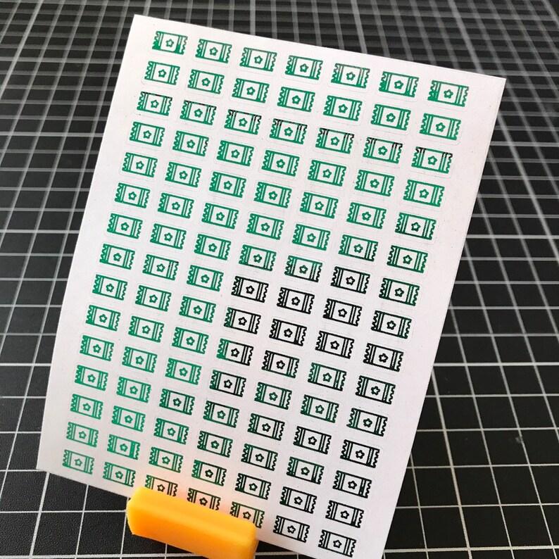 72 pcs FACEBOOK Social Media Icon Foil Planner Sticker Sheet