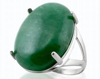 Magic Ring Sterling Silver Green Aventurine Ring