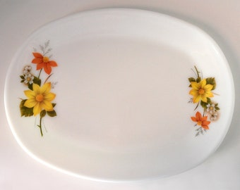 Vintage 'Autumn Glory' Serving Plate by JAJ Pyrex