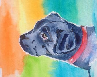 Custom Watercolor Painting, Custom Dog Portrait, Custom Pet Portrait,