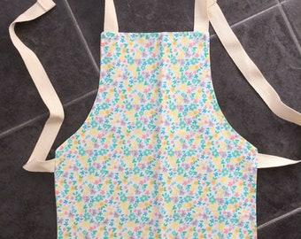 Individual handmade child's reversible apron