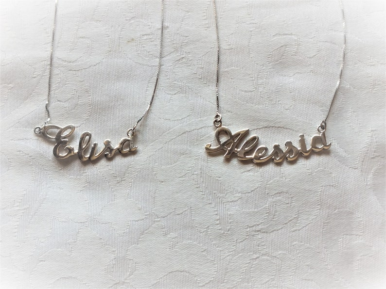 Chain with name handmade jewel personalized name name silver name newborn name fashion gift. gift necklace with name