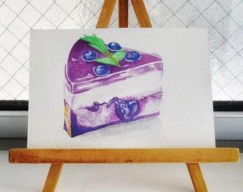 Personnalisé peinture aquarelle de bonbons | fait sur commande | illustration de la carte postale