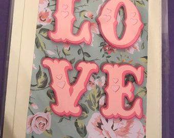 Love handmade card