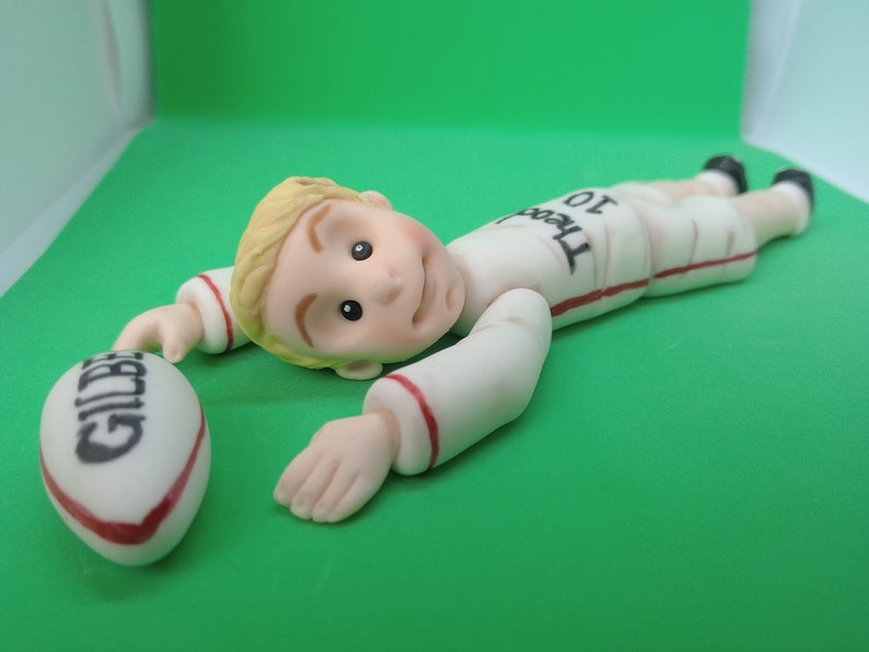Rugby Player Cake Topper Handmade Edible Personalised Birthday