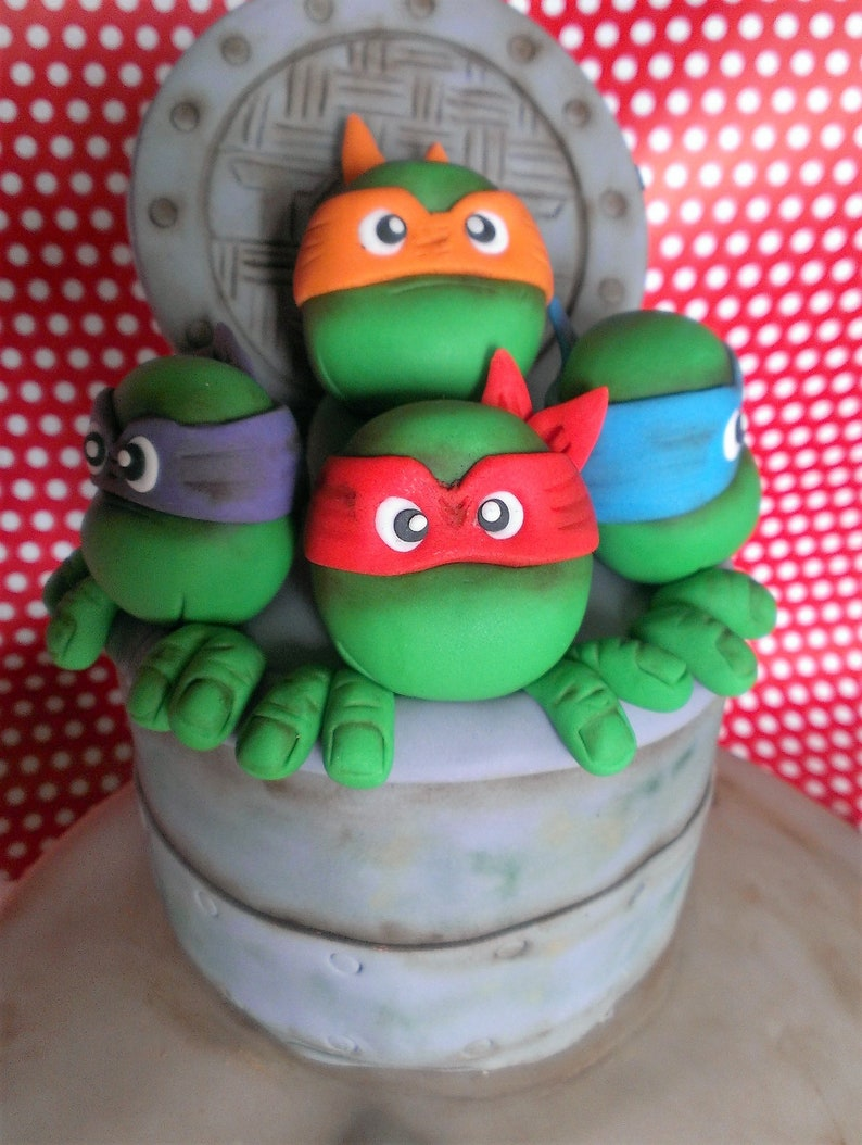Ninja turtles cake topper handmade edible personalized birthday cake  cartoons decoration party theme any occasion UNOFFICIAL