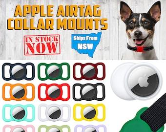AirTag Tracker Silicone Dog Collar Holder