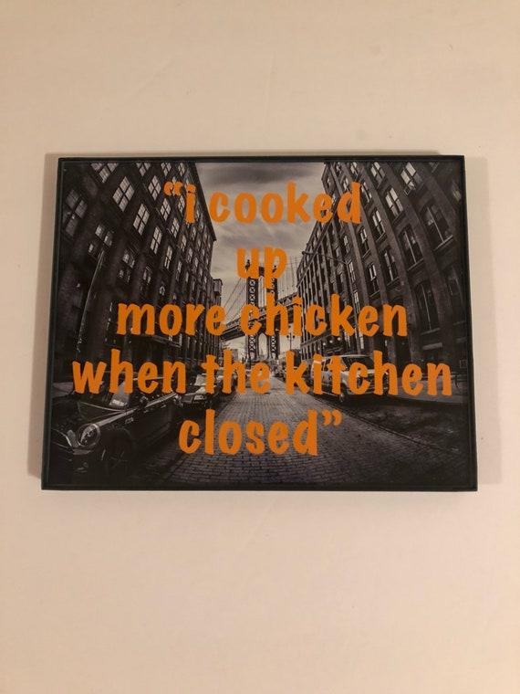 Brooklyn phrases art with borderless frame