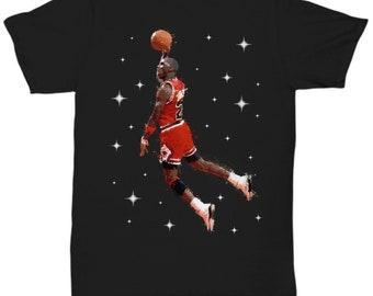 dc46be1a651 Michael Jordan Painting - Unisex T-Shirt - Black