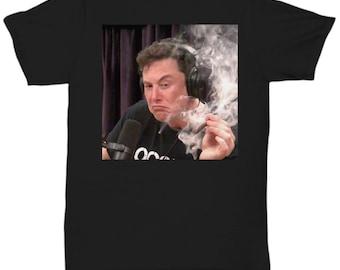 3db50fe6fc140 Elon Musk Smoking Weed On Joe Rogan Experience - Unisex T-Shirt Black