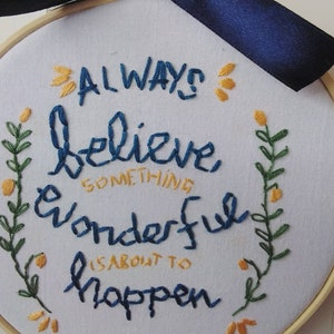 Gift for family Hand stitched Motivational Plaque Hand stitched Embroidered Hoop ArtWall Hanging Gift for any occasion Gift for Friend
