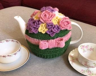 May Flowers Tea Cozy Crochet Pattern - INSTANT DOWNLOAD