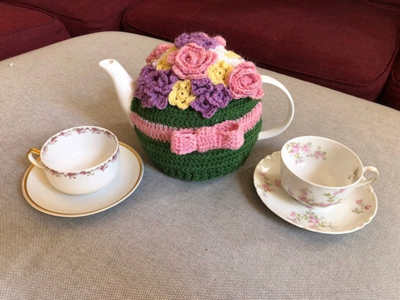 May Flowers Tea Cozy Crochet Pattern  INSTANT DOWNLOAD image 0