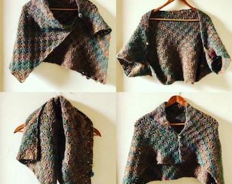 C2C Acorn Button Wrap Crochet Pattern - INSTANT DOWNLOAD